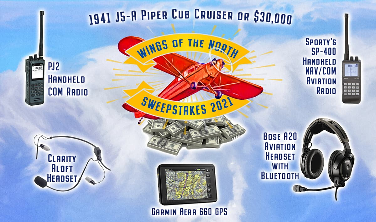 2021 Wings of the North Sweepstakes prizes